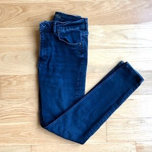 Zara High Waist Skinny Jeans in True Blue
